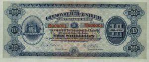 عملة استرالية ورقية قديمة اصدار 1913