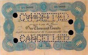 1000 باوند استرالي قديم اصدار 1924