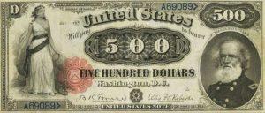 500 دولار امريكي قديم 1880