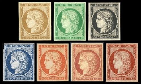 اغلى الطوابع الفرنسية القديمة